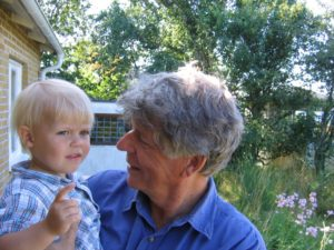 Med barnbarnet Edvin