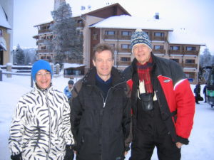 Med Outi Hovatta och Austin Smith i Finland