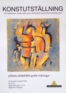 Art Exhibition Vens konsthall August 2014 Poster