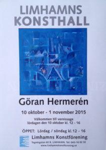 Affisch Utställning Limhamns konsthall okt 2015
