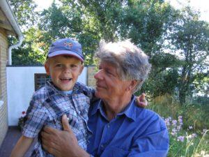 Med barnbarnet Axel