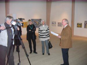 Bo Polsten invigningstalar på Staffanstorps konsthall, 2010